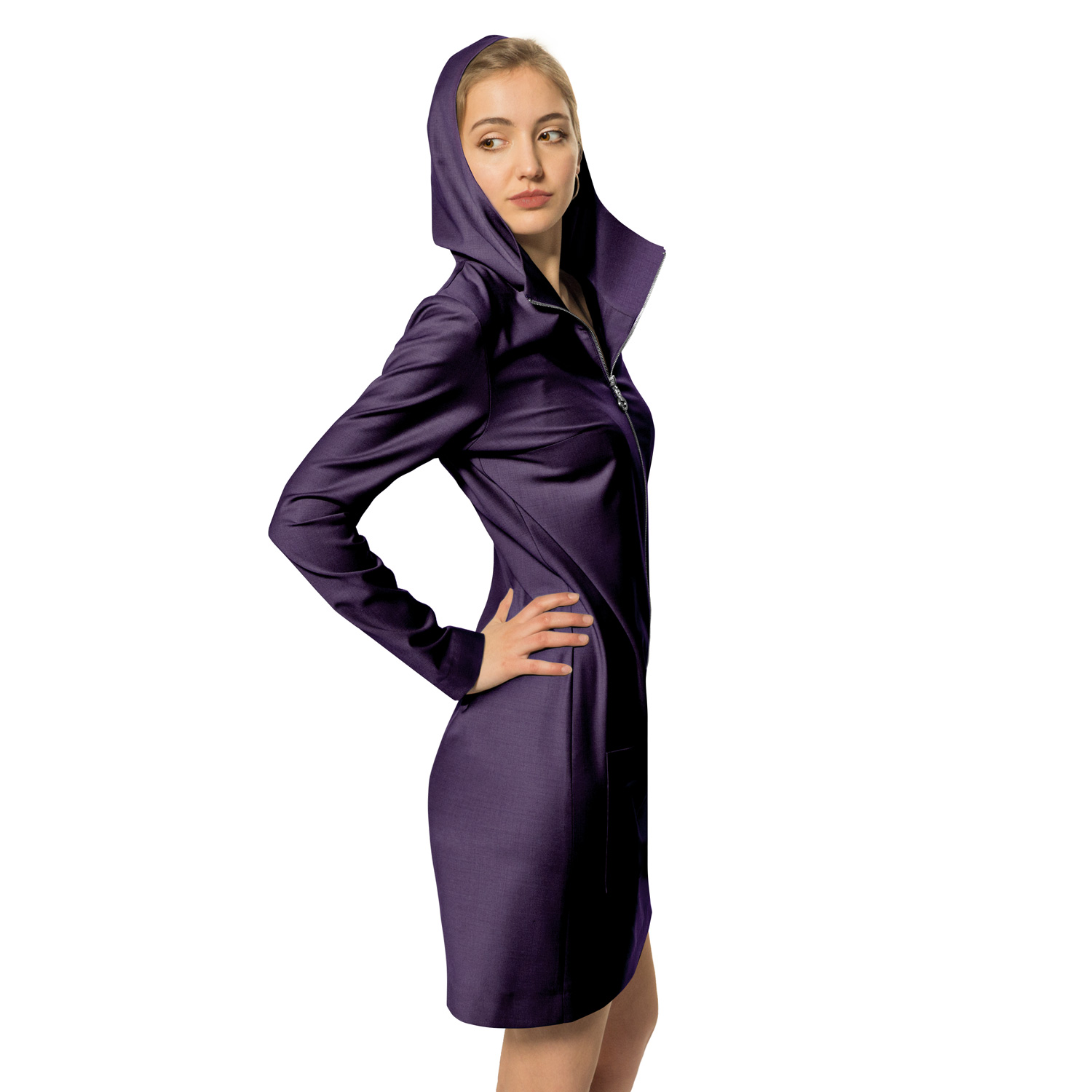 Brandengate Kleid Deep Purple Modell