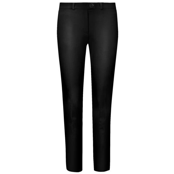 Damenhose-front-schwarz-glatt