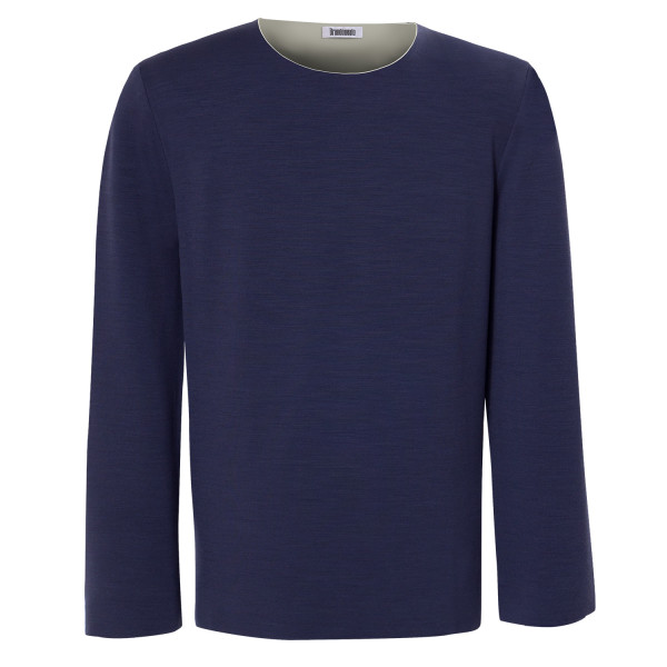 Pullover kronenblau front